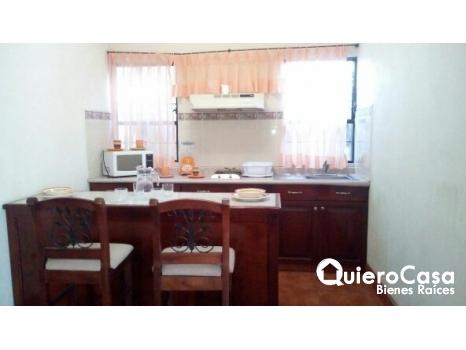 Renta de apartamento amueblado en Los Robles