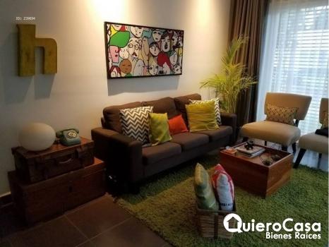 Preciosa apartamento amueblado ubicado en Las colinas