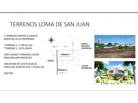 Venta y renta de Terreno en Reparto san Juan
