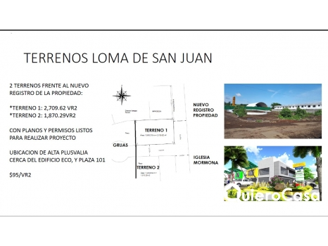 Venta o renta de Terrenos en Reparto San Juan
