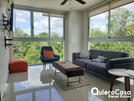Apartamento amueblado en renta en Pinares