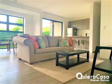 Precioso apartamento con linea blanca en renta