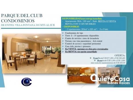 Apartamento en alquiler en Parque del Club, Villa Fontana,