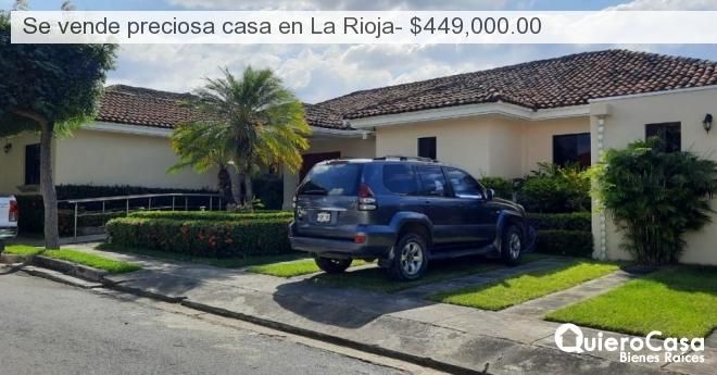 Se vende preciosa casa en La Rioja- $449,000.00