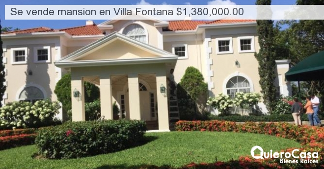 Se vende mansion en Villa Fontana $1,380,000.00