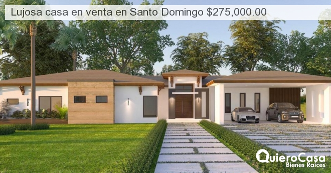 Lujosa casa en venta en Santo Domingo $275,000.00
