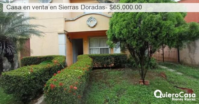 Casa en venta en Sierras Doradas- $65,000.00