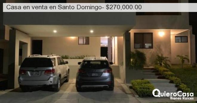 Casa en venta en Santo Domingo- $270,000.00