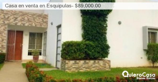 Casa en venta en Esquipulas- $89,000.00