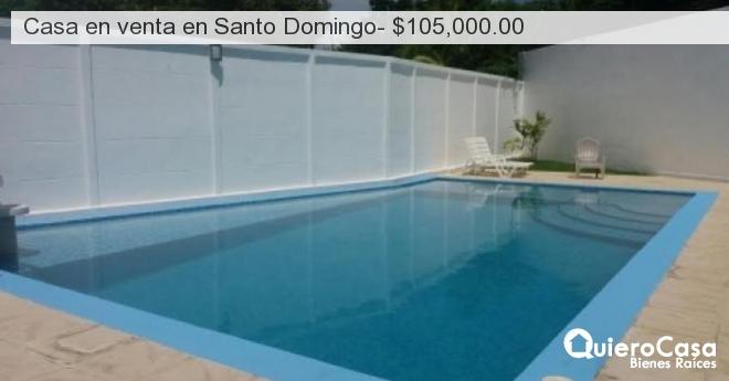 Casa en venta en Santo Domingo- $105,000.00