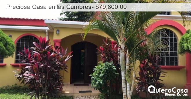 Preciosa Casa en las Cumbres- $79,800.00
